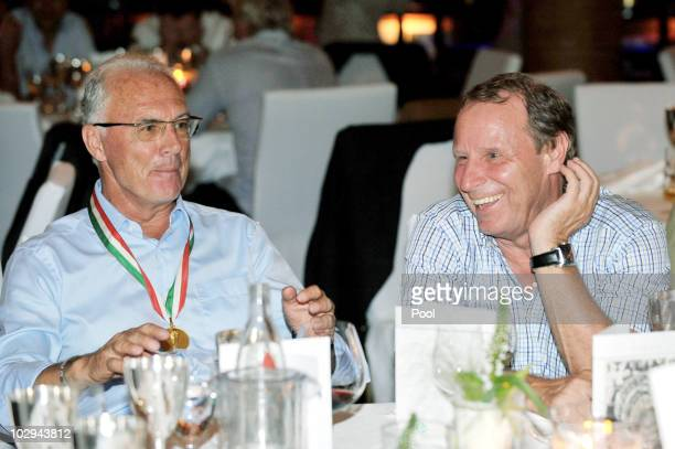 Franz Beckerbauer and Berti Vogts attend the German World Cup Team of 1990 Meeting to celebrate their 20th anniversary at Europapark on July 16 2010...
