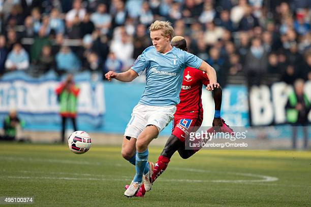 Franz Brorsson during the match between Malmo FF and IFK Norrkoping at Swedbank Stadion on October 31 2015 in Malmo Sweden