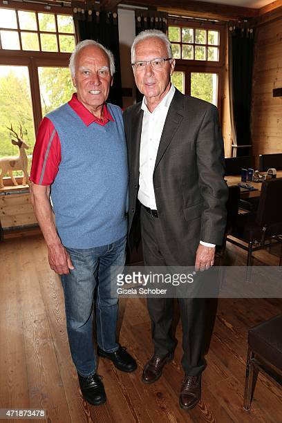 Franz 'Bulle' Roth Franz Beckenbauer during the Franz Roth Golf Cup gala evening in favour of Michael Roll Stiftung 'Tabaluga' on May 1 2015 in Bad...
