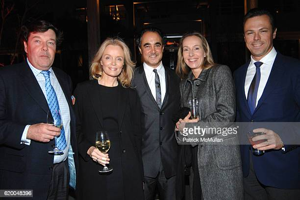 Franz Burda Bettina Burda Mathias Rastorfer Martin Gruschka and Catherine Gruschka attend GALERIE GMURZYNSKA Art Basel Miami Beach Dinner Celebrating...