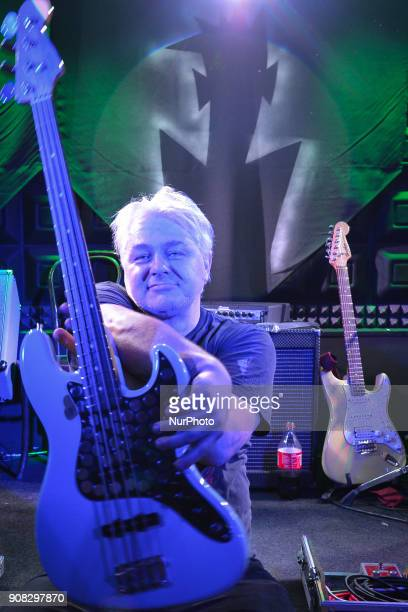 Franz Dreadhunter of Püdelsi a Polish rock band founded in 1986 in Krakow poses for a picture after a concert in Oliwa Pub On Friday January 19 in...
