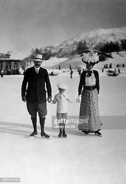 Franz Ferdinand Archduke of AustriaEste Crown Prince of AustriaHungary With son Maximilian and wife Sophie in St Moritz 1912