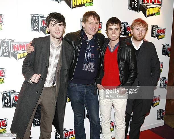 Franz Ferdinand arrive at the Shockwaves NME Awards 2007 at the Hammersmith Palais in London United Kingdom