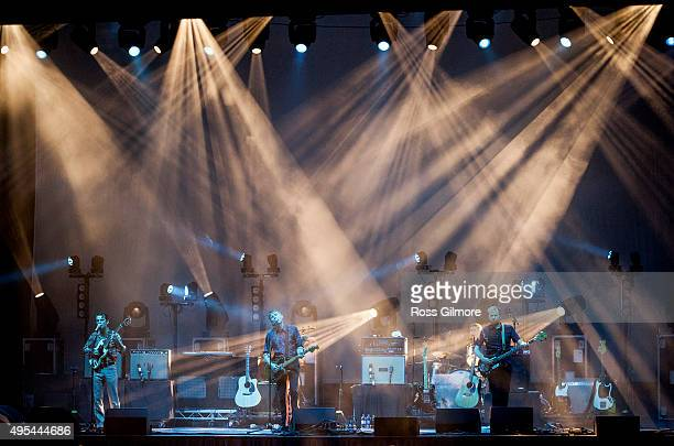 Franz Ferdinand perform at the Save the Children's Child Refugee Crisis Appeal charity concert at the Clyde Auditorium Glasgow at Clyde Auditorium on...