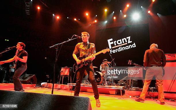 Franz Ferdinand perform on stage at the second in a series of 5 charity gigs in aid of the Teenage Cancer Trust which runs from April 4 to April 8 at...