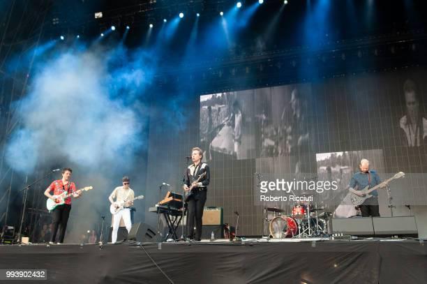 Franz Ferdinand perform on stage during TRNSMT Festival Day 5 at Glasgow Green on July 8 2018 in Glasgow Scotland