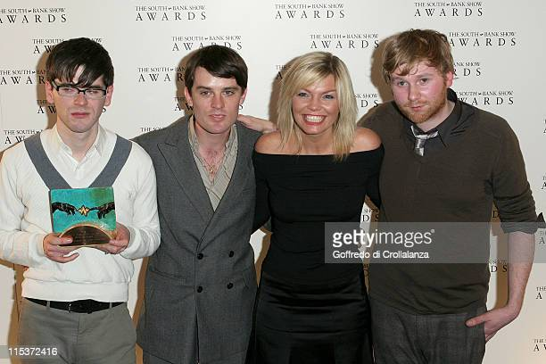 Franz Ferdinand winners of the Best Pop award with Kate Thornton