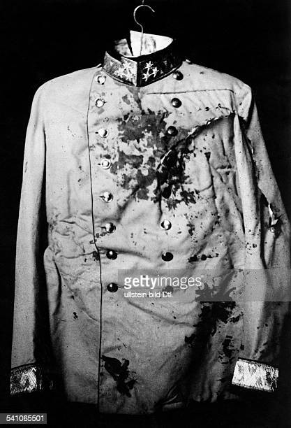 Franz Ferdinand*18121863Archduke of AustriaEsteCrown Prince of AustriaHungary Assassination of Sarajevo Bloody uniform of Franz Ferdinand