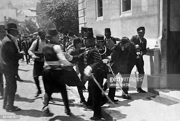 Franz Ferdinand*18121863Archduke of AustriaEsteCrown Prince of AustriaHungaryAssassination in Sarajevo The arrest of Gavrilo Princip after the...
