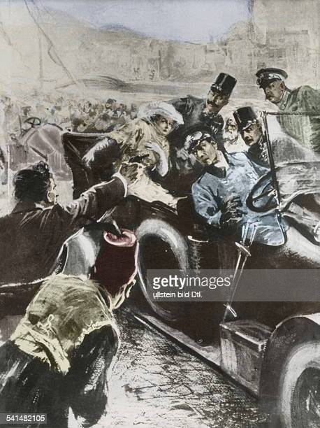 Franz Ferdinand*18121863Archduke of AustriaEsteCrown Prince of AustriaHungary'Assassination in Sarajevo' Gavrilo Princip firing the deadly shots at...