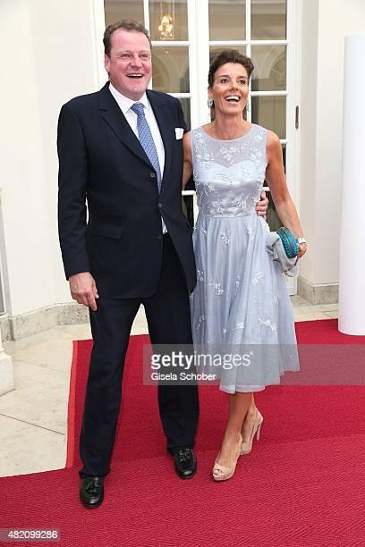 Franz Georg Strauss and his wife Birgit Strauss during the 'Die Goldene Deutschland' Gala on July 26 2015 at Cuvillies Theater in Munich Germany