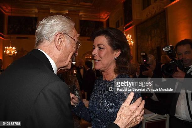Franz Herzog Von Bayern and Princess Caroline of Hanover attend the AMADE Deutschland Charity dinner on June 14 2016 in Munich Germany
