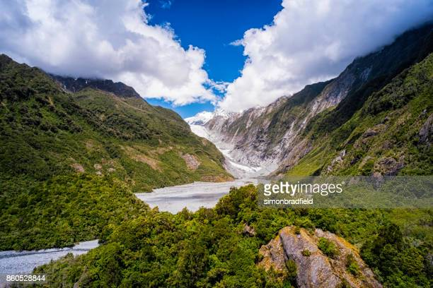 Franz Josef Glacier On New Zealand's South Island
