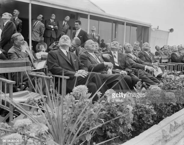 Franz Josef Strauss, the German Minister of Defence, attends the Farnborough Air Show during a visit to the UK as a guest of the British government,...