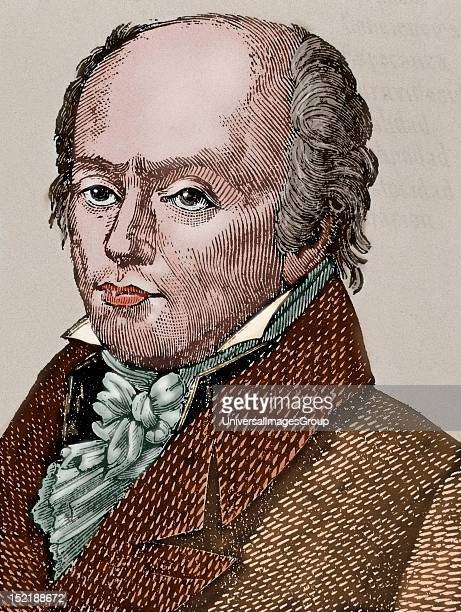 Franz Joseph Gall Neuroanatomist physiologist and pioneer in the study of the localization of mental functions in the brain Colored engraving