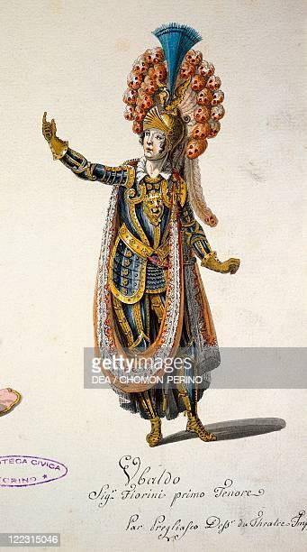 Franz Joseph Haydn , Armida, 1784. Costume sketch for Ubaldo by Giacomo Pregliasco . Performance at the Teatro Regio, Turin, December 27, 1804.