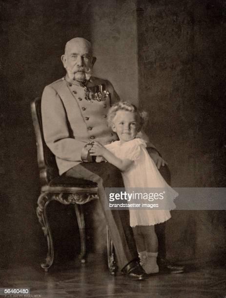 Franz Joseph I. And Otto von Habsburg, his grandson, son of emperor Karl ansd empress Zita. Photography. 1914. [Kaiser Franz Joseph I. Von...