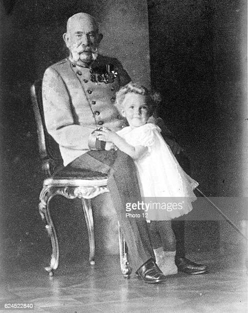 Franz Joseph I, Emperor of Austria and King of Hungary 1848-1916, with his great-great-nephew Otto von Habsburg.