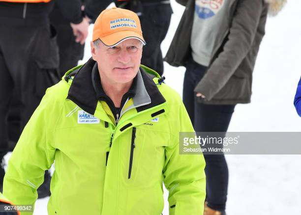 Franz Klammer attends the Hahnenkamm race on January 20 2018 in Kitzbuehel Austria
