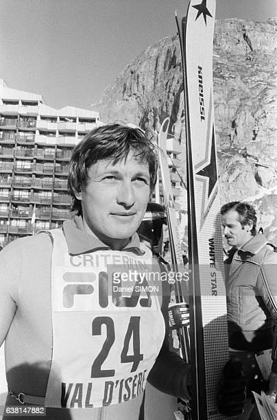 Franz Klammer lors du criterium international de la première neige à Val d'Isère France du 2 au 8 décembre 1979