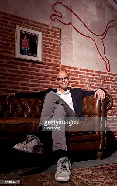 Franz Koch chief executive officer of Puma SE poses for a photograph following the company's results news conference in Herzogenaurach Germany on...