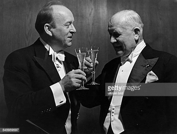 Franz Lehar, Austrian composer, with Wilhelm Rode - 1939