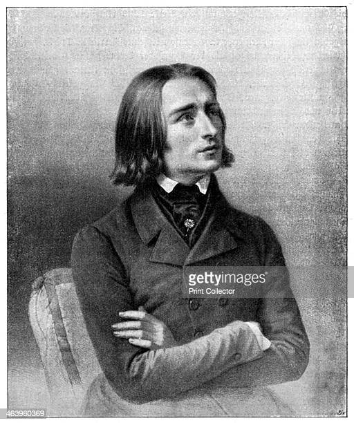 Franz Liszt 19th century Hungarian virtuoso pianist and composer Portrait of Liszt