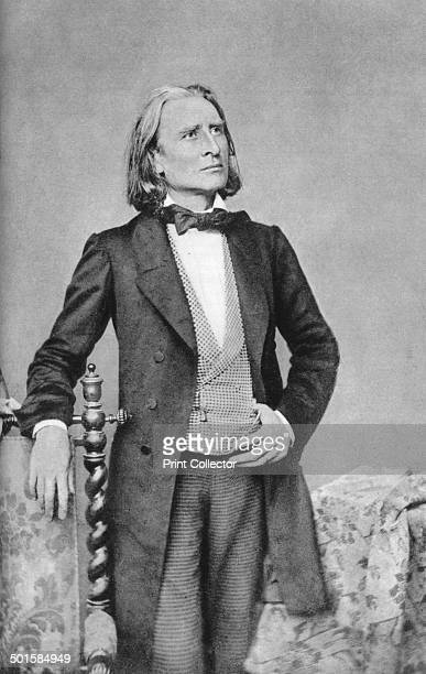 Franz Liszt 19thcentury Hungarian composer pianist conductor and teacher A print from Les Musiciens Celebres Lucien Mazenod Paris 1948