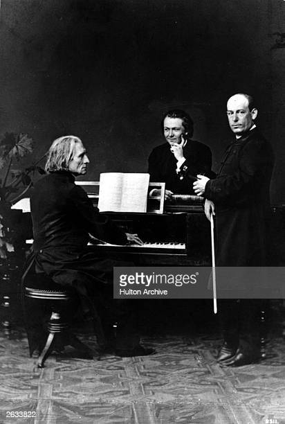Franz Liszt Hungarian composer at the piano