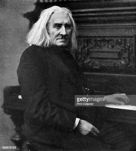 Franz Liszt Hungarian pianist and composer 1886 A print from 100 Years in Pictures A panorama of History in the Making text by DC Somervell Odhams...
