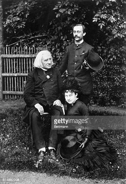 Franz Liszt Hungarian piano virtuoso and his composer with members of his family Photograph
