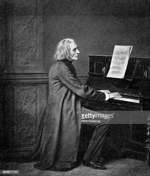 Franz Liszt Hungarian virtuoso pianist and composer 1909