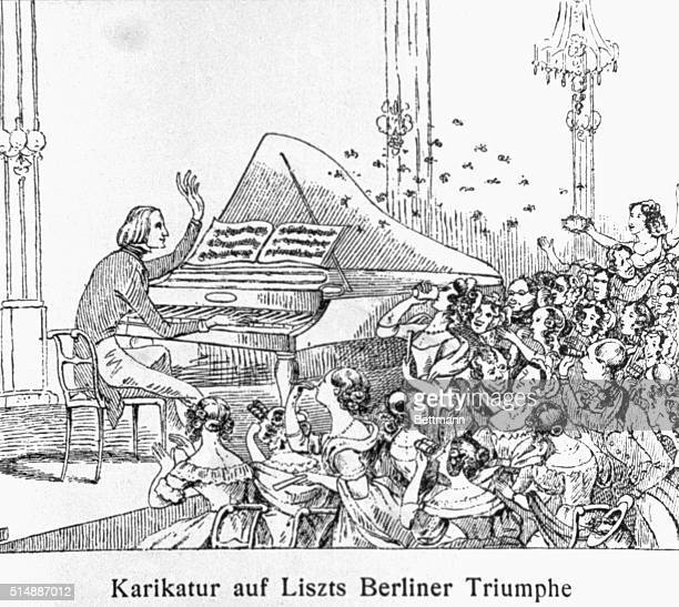 Franz Liszt performs at a concert in Berlin