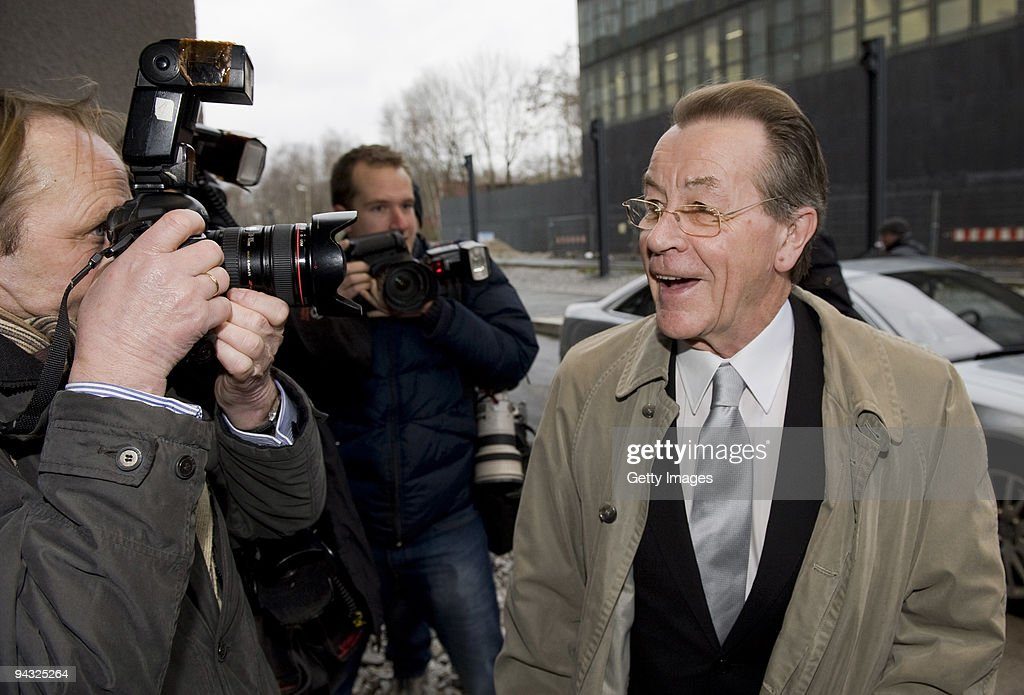 Franz Muentefering, former chairman of German Social Democrats (SPD) party arrives for his wedding with Michelle Schumann at Zeche Zollverein on December 12, 2009 in Essen, Germany.