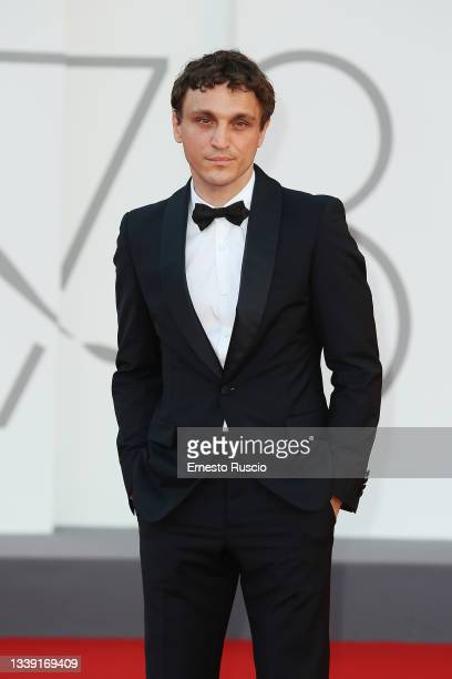 """Franz Rogowski attends the red carpet of the movie """"Freaks Out"""" during the 78th Venice International Film Festival on September 08, 2021 in Venice,..."""