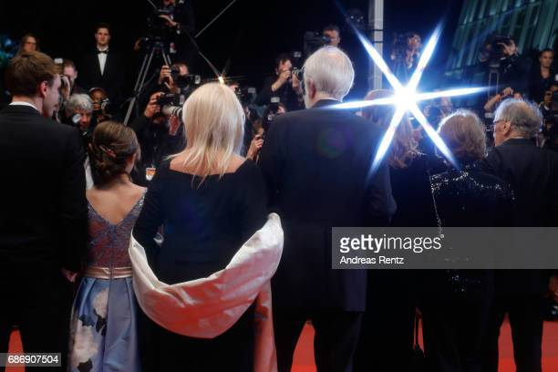 "Franz Rogowski, Fantine Harduin, Susi Haneke, Michael Haneke, Isabelle Huppert, Marianne Hoepfner and Jean-Louis Trintignant attend the ""Happy End""..."