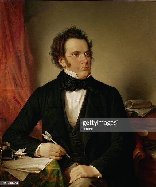 Franz Schubert austrian composerOil on Canvas [Franz Schubert oesterr Komponist oel/Lwd]