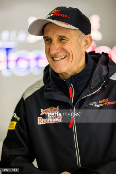 Franz Tost of Scuderia Toro Rosso and Austria during practice for the Formula One Grand Prix of China at Shanghai International Circuit on April 7...