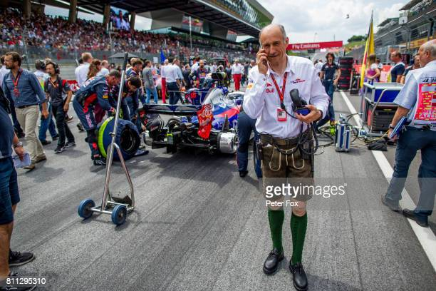 Franz Tost of Scuderia Toro Rosso and Austria during the Formula One Grand Prix of Austria at Red Bull Ring on July 9 2017 in Spielberg Austria