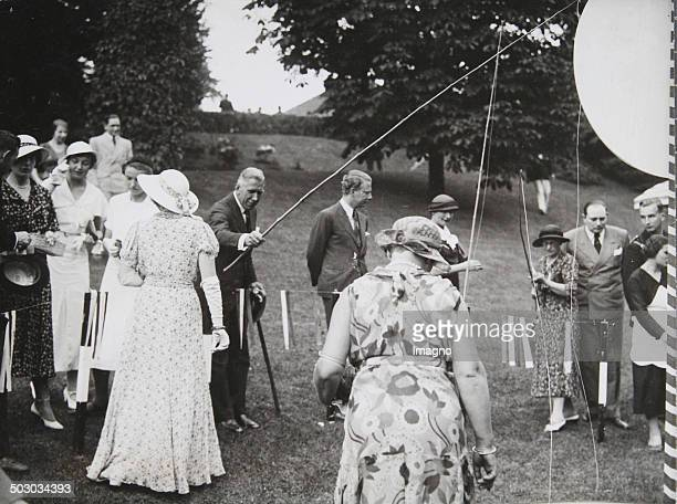 Franz von Papen [18791969] in Berlin Lawn Tennis Club RotWeiss at a charity event for the National Socialist People's Welfare 1934 Photograph