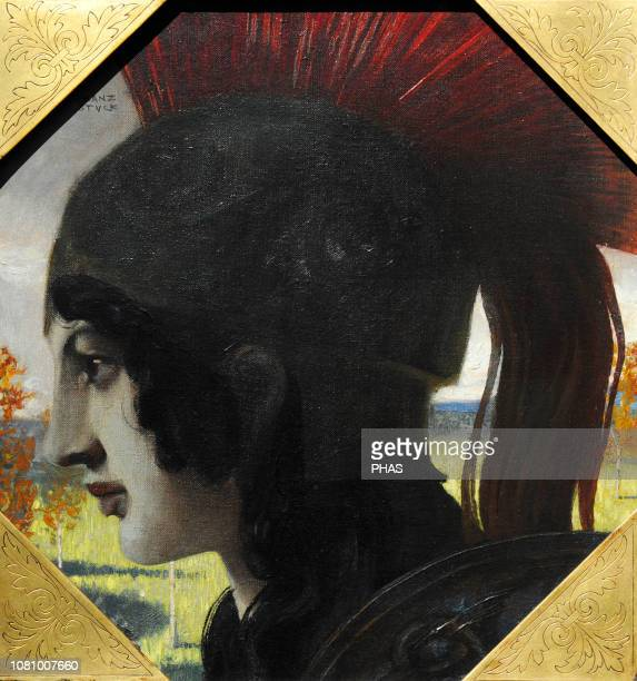 Franz von Stuck German painter Pallas Athena 1891 WallrafRichartz Museum Cologne Germany