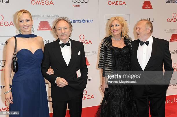 Franz Xaver Kroetz and girlfriend Janine Grund, Birgit Muth and Joseph Vilsmaier attend the German Filmball at the Hotel Bayerischer Hof on January...