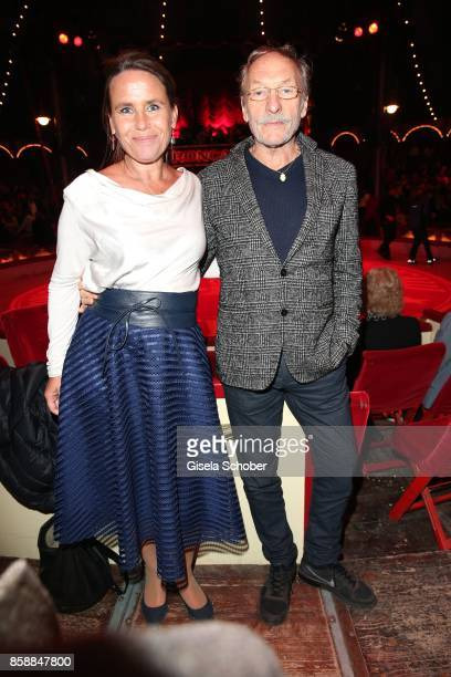 Franz Xaver Kroetz and his exwife MarieTheres Relin during the premiere of the Circus Roncalli '40 Jahre Reise zum Regenbogen' on October 7 2017 in...