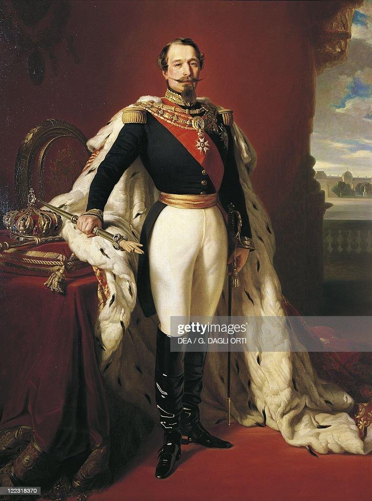 France, Portrait of Napoleon III (Louis Napoleon Bonaparte), French Emperor (1852-1870) : News Photo
