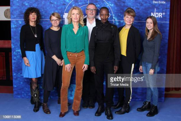 Franziska Buch Sabine Holtgreve Maria Furtwaengler Christian Granderath Florence Kasumba Iris Kiefer Lilly Barshy during the presentation of the new...