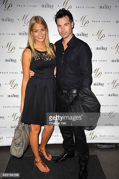 Franziska Frank and Richard Wheeler attend Madame Paulette's 55th Anniversary and founder John Mahdessian's Birthday Party at Beautique on August 4...