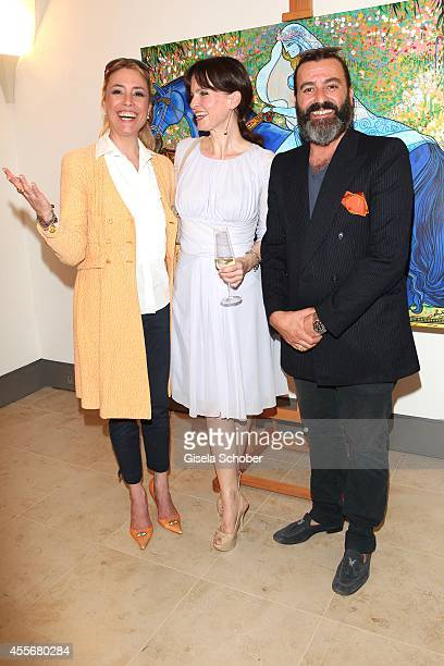Franziska Fugger Babenhausen Sonja Lechner Artist Mauro Bergonzoli attend the Exhibition Opening of Mauro Bergonzoli at Bayerisches Nationalmuseum on...