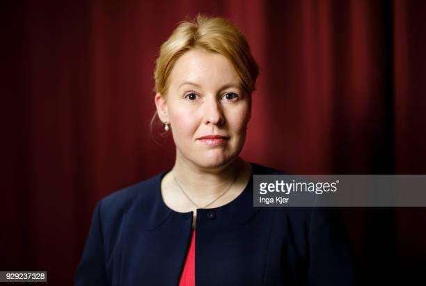 Franziska Giffey borough mayor of the destrict Neukoelln in Berlin is pictured on March 07 2018 in Berlin Germany