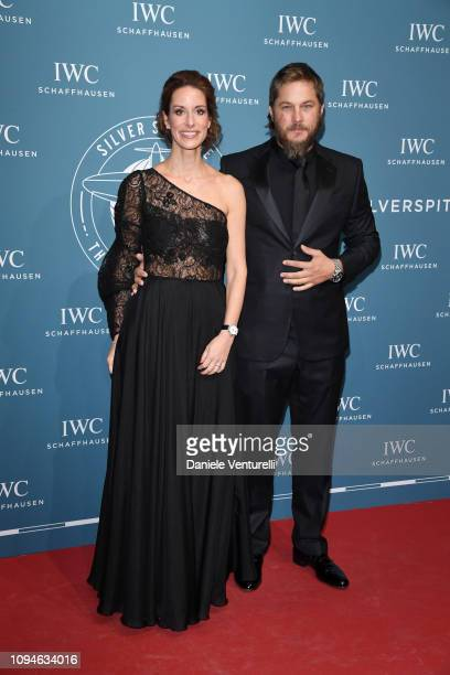 Franziska Gsell and Travis Fimmel walks the red carpet for IWC Schaffhausen at SIHH 2019 on January 15, 2019 in Geneva, Switzerland.