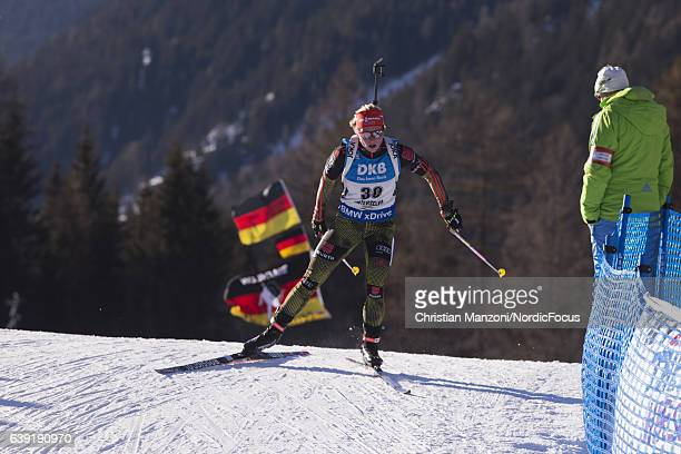 Franziska Hildebrand of Germany competes during the 15 km women's Individual on January 19 2017 in AntholzAnterselva Italy